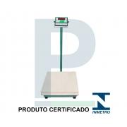 Balança Digital Inox com Coluna 300 Kg 60x50 Cm