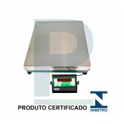 Balança Digital Inox sem Coluna 300 Kg 80x60 Cm