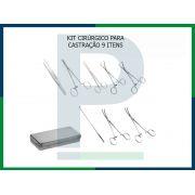 Kit Cirúrgico Castração Simples - 9 peças