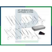 Kit Cirúrgico Completo para Castração - 19 peças