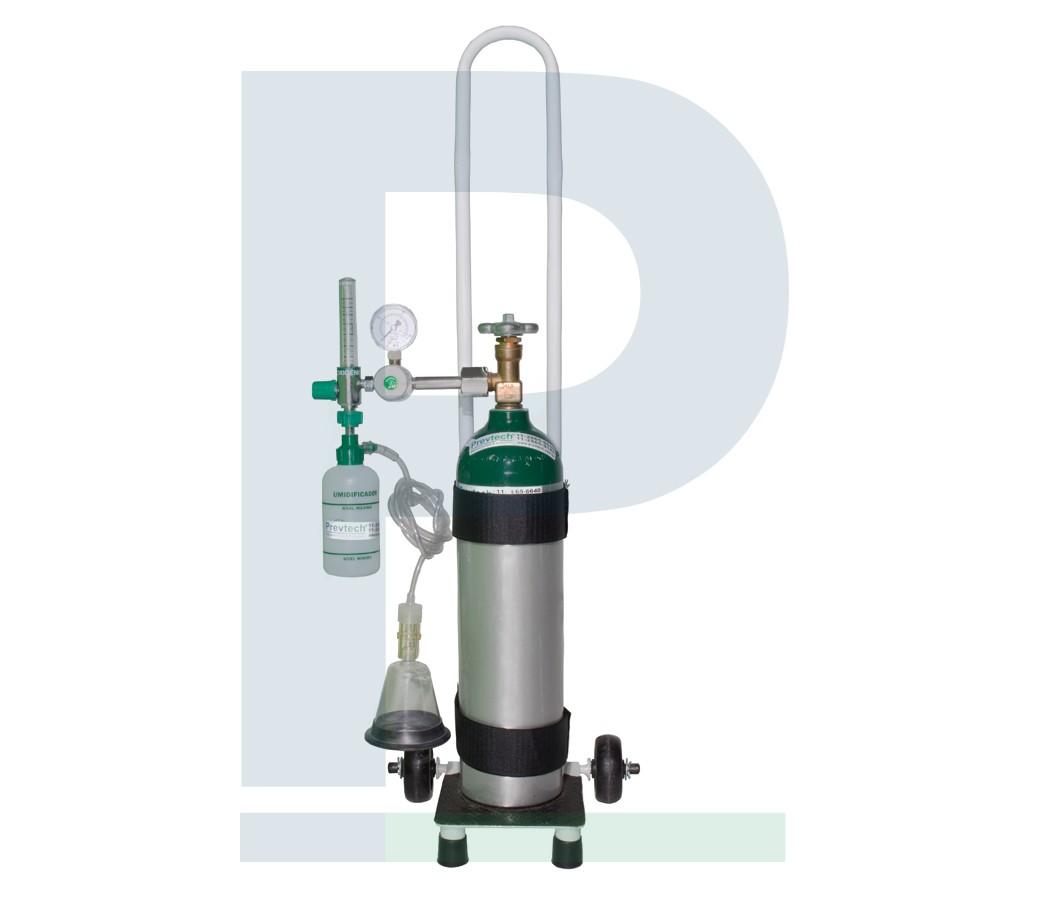Kit Cilindro Alumínio 3L com Carga de Oxigênio