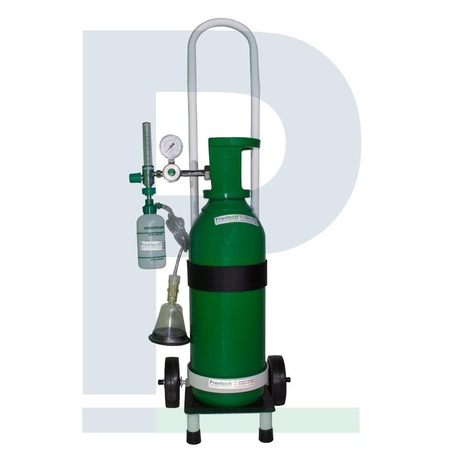 Kit cilindro 5L com Carga de Oxigênio