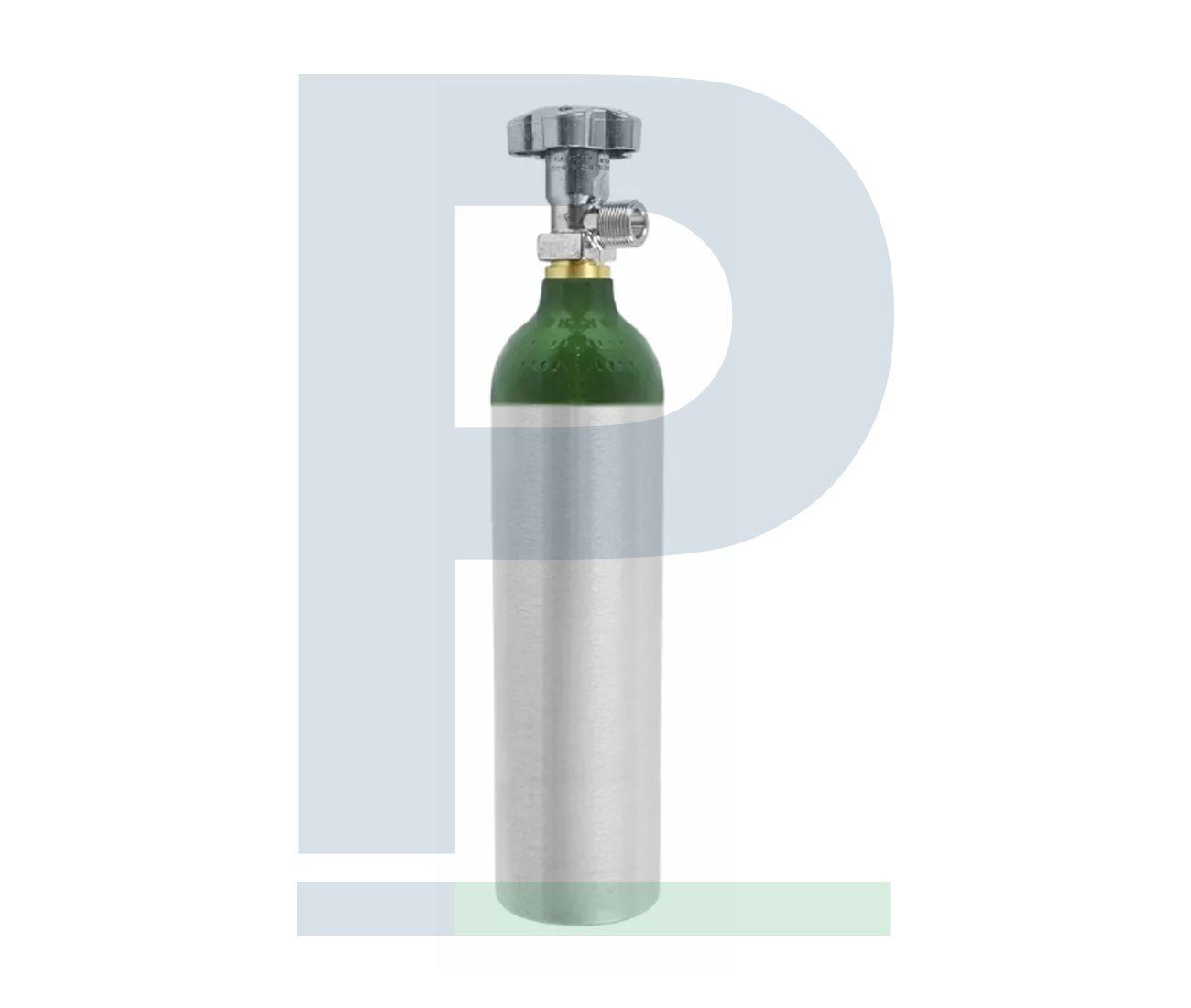 Cilindro de Alumínio 3L com Carga de Oxigênio