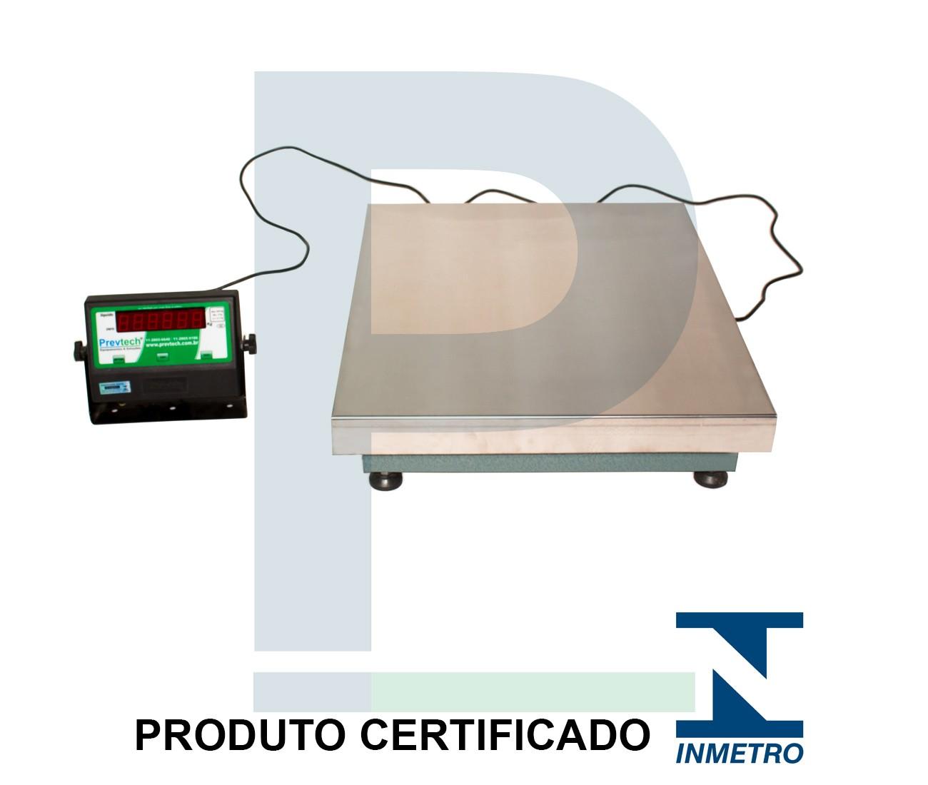 Balança Digital Inox sem Coluna 300 Kg 60x50 Cm