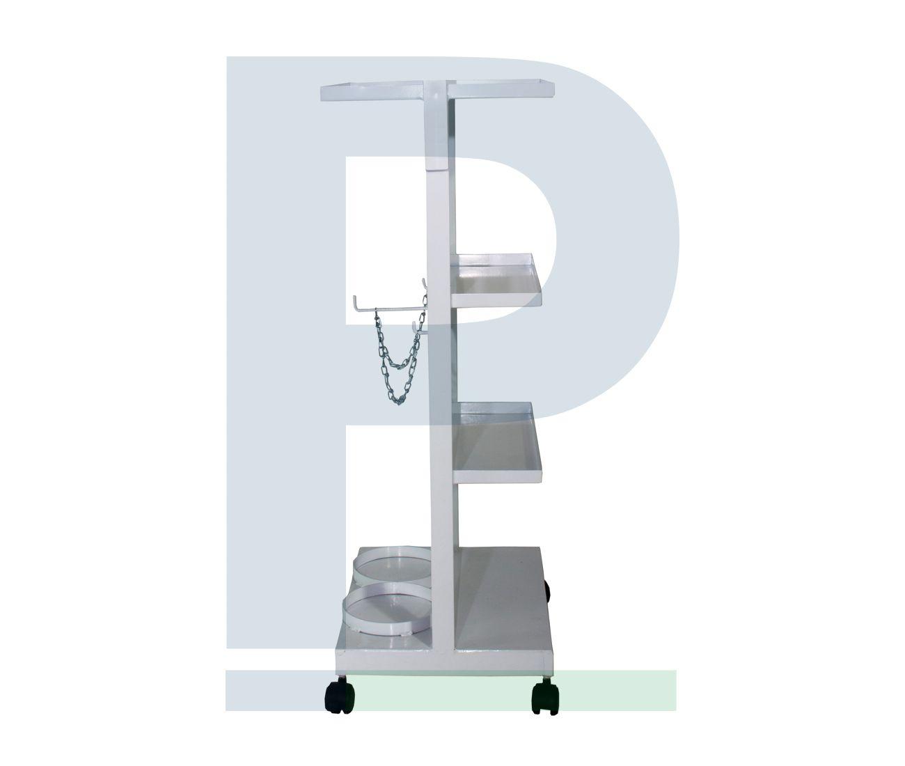 Estante para Aparelho de Anestesia - Suporte para 2 Cilindros