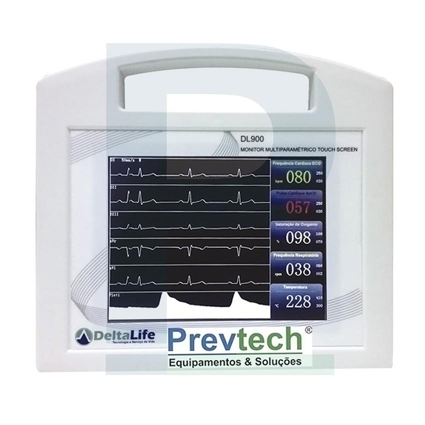 F - Monitor Veterinário Multiparamétrico - DL 900 Touch Screen
