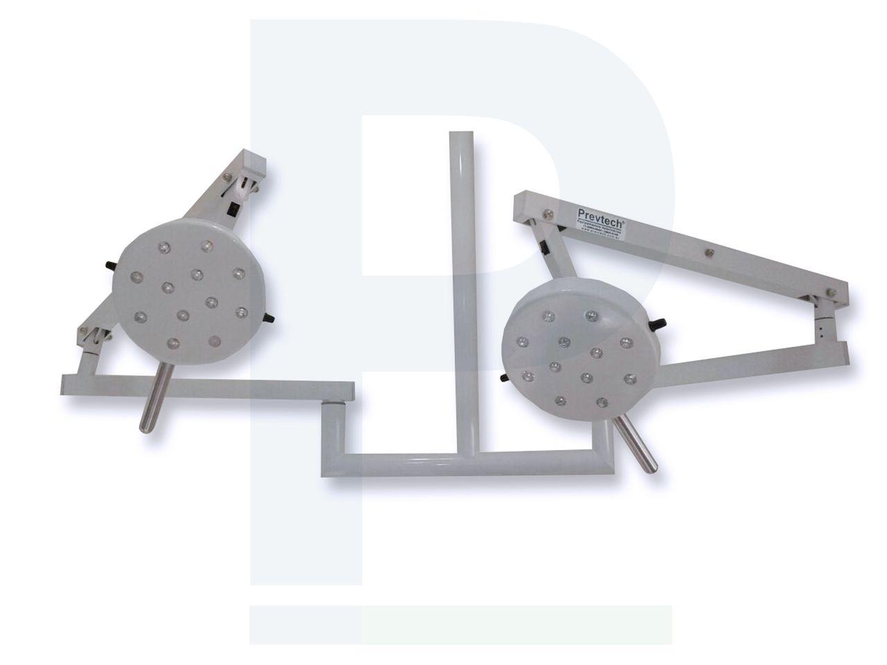 Foco Cirúrgico Duplo De Teto - 24 Leds 12X12 Cúpulas