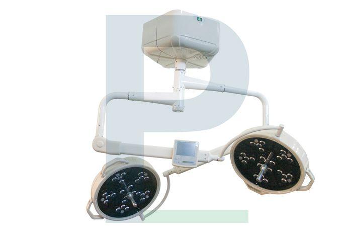 Foco Cirúrgico Duplo de Teto Com Bateria - 48 Leds 24x24