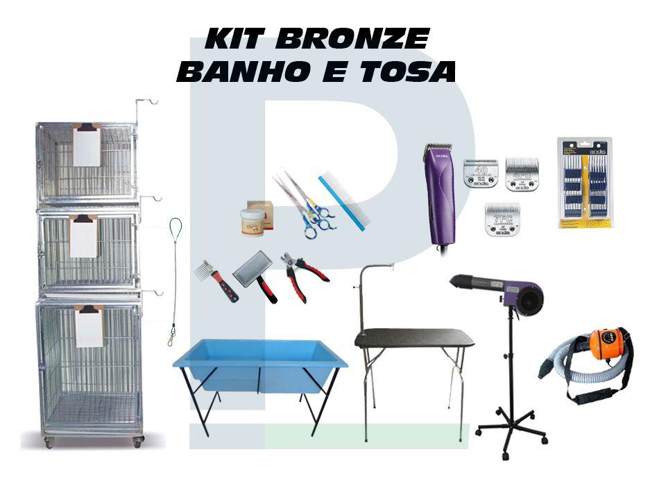Kit Banho e Tosa - Bronze