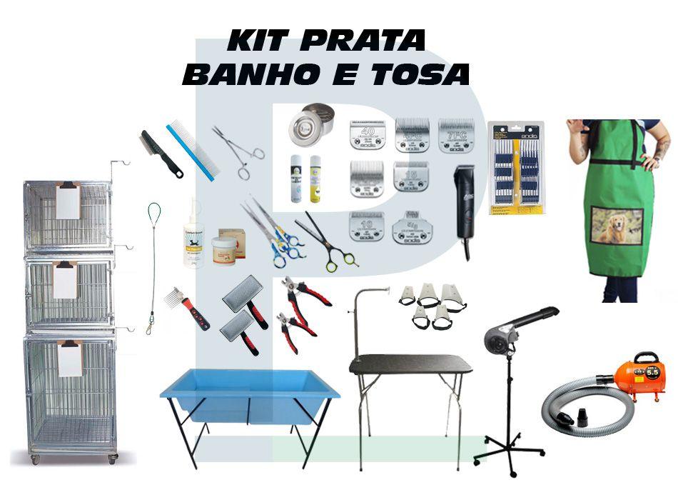 Kit Banho e Tosa - Prata