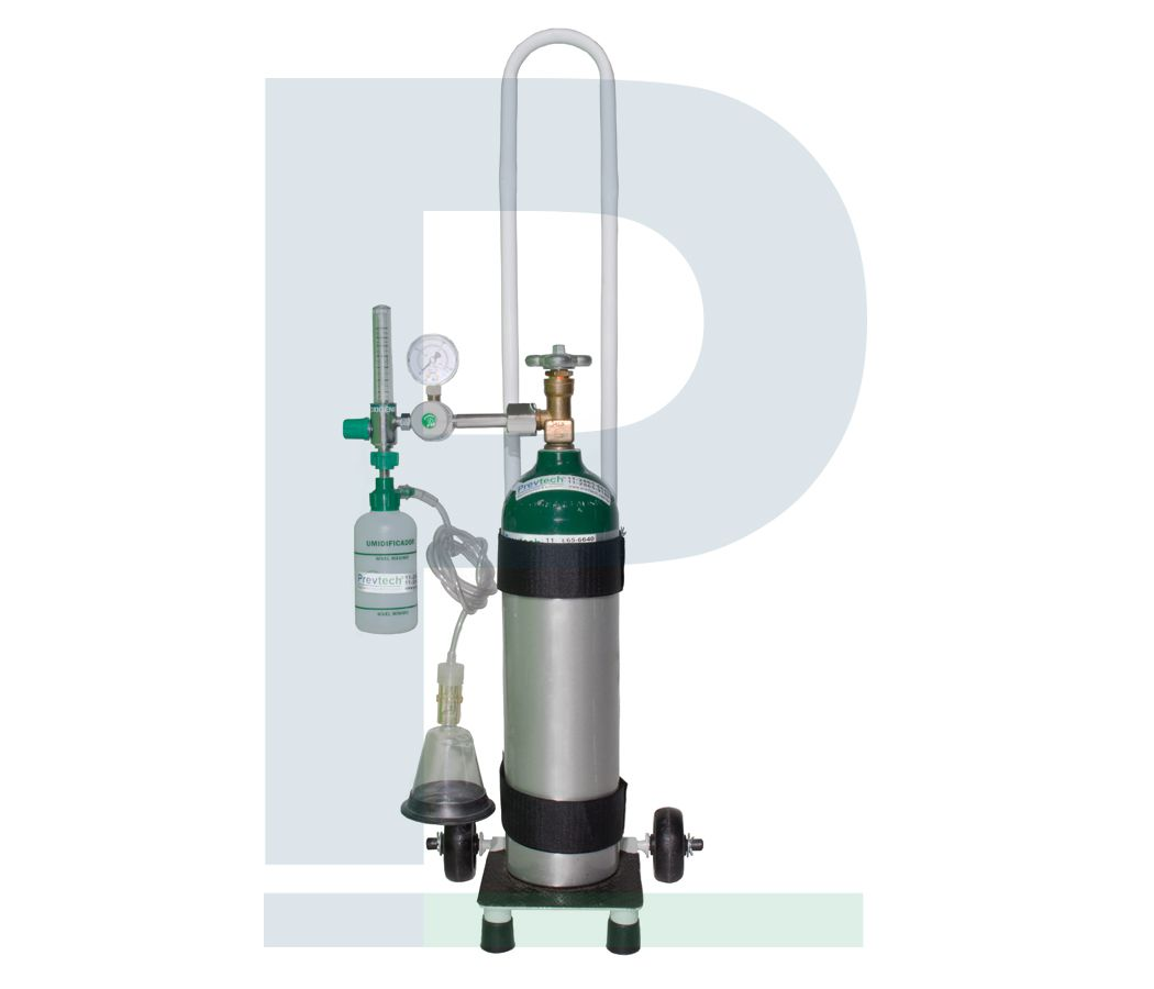 Kit Cilindro Alumínio 3 Litros para Oxigênio