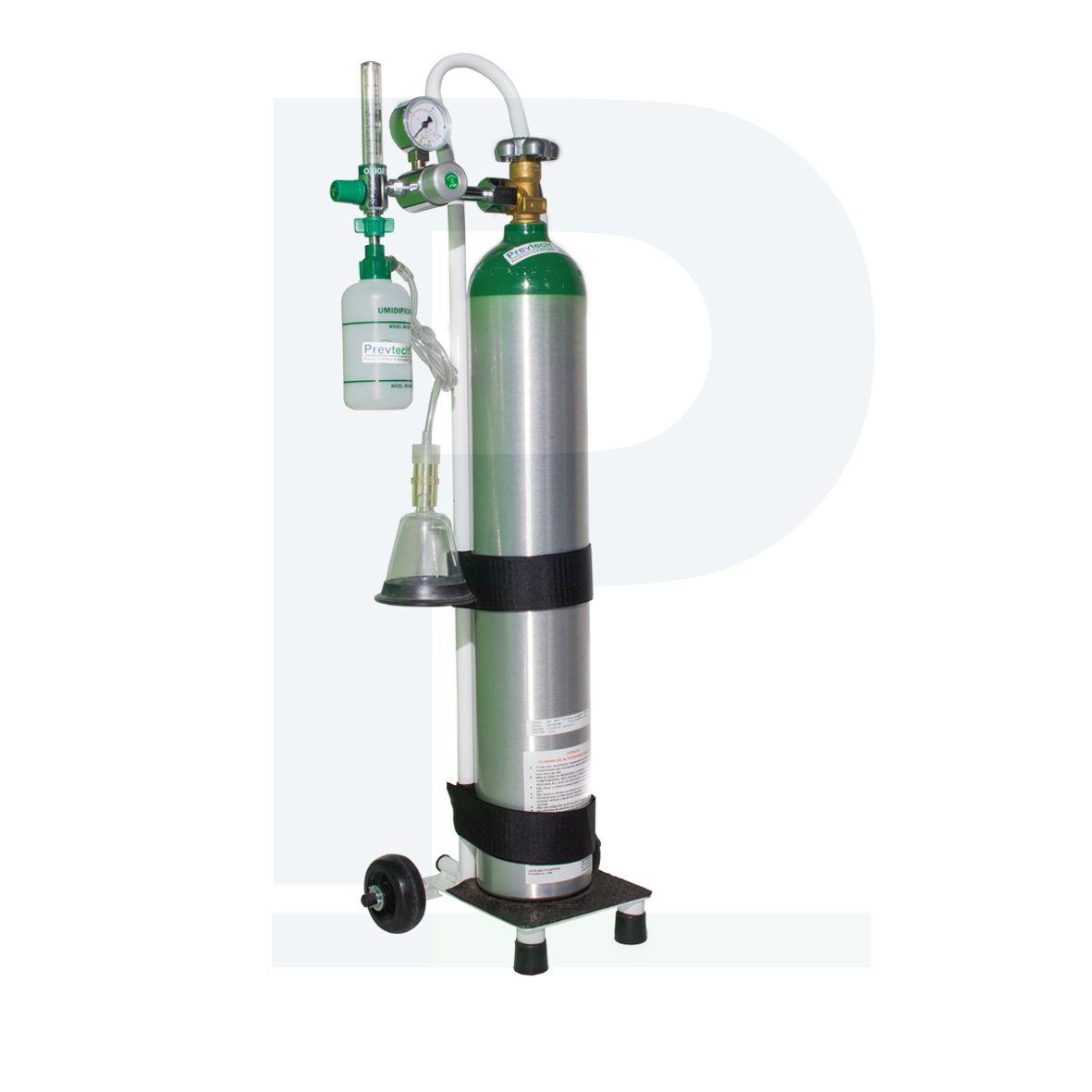 Kit Cilindro Alumínio 5 Litros para Oxigênio