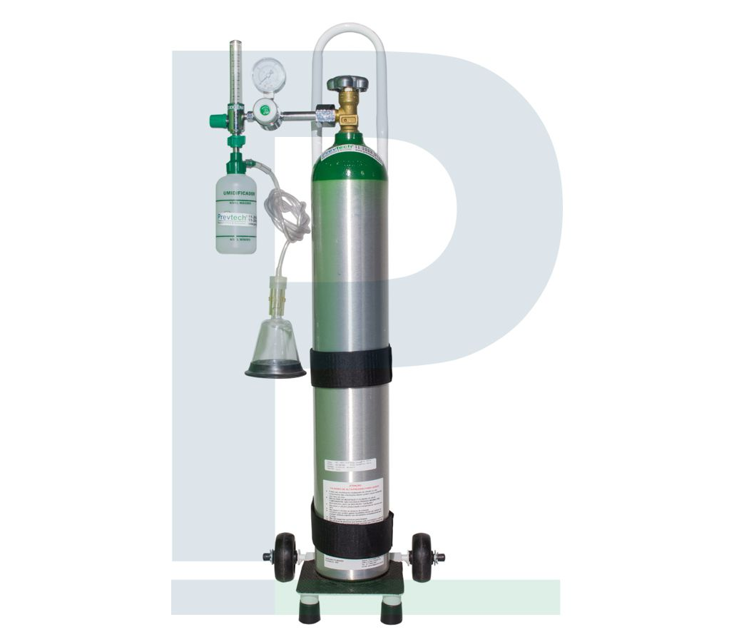 Kit Cilindro Alumínio 5L com Carga de Oxigênio