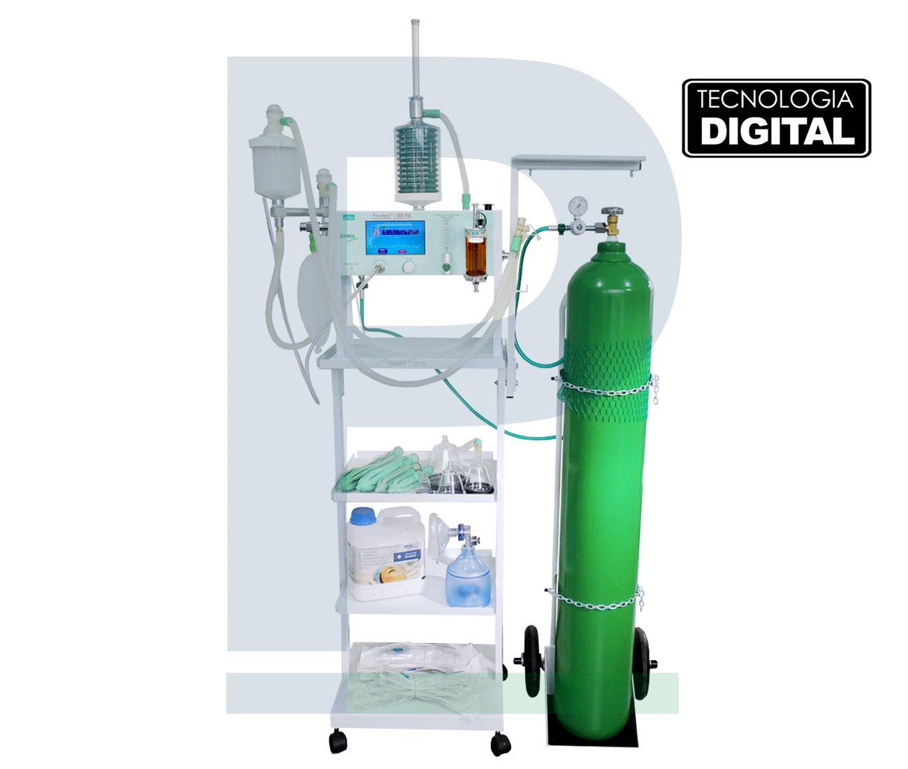 Kit de Anestesia Hipnos Eletronic com Ventilador Completão 50 Litros