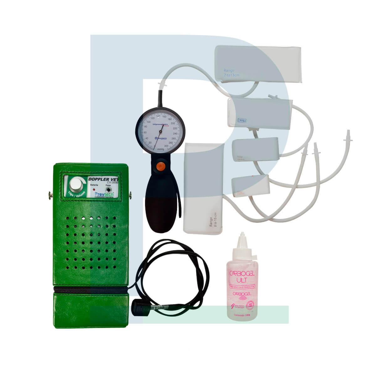Kit Doppler Vascular Veterinário 1 Via - CV3000