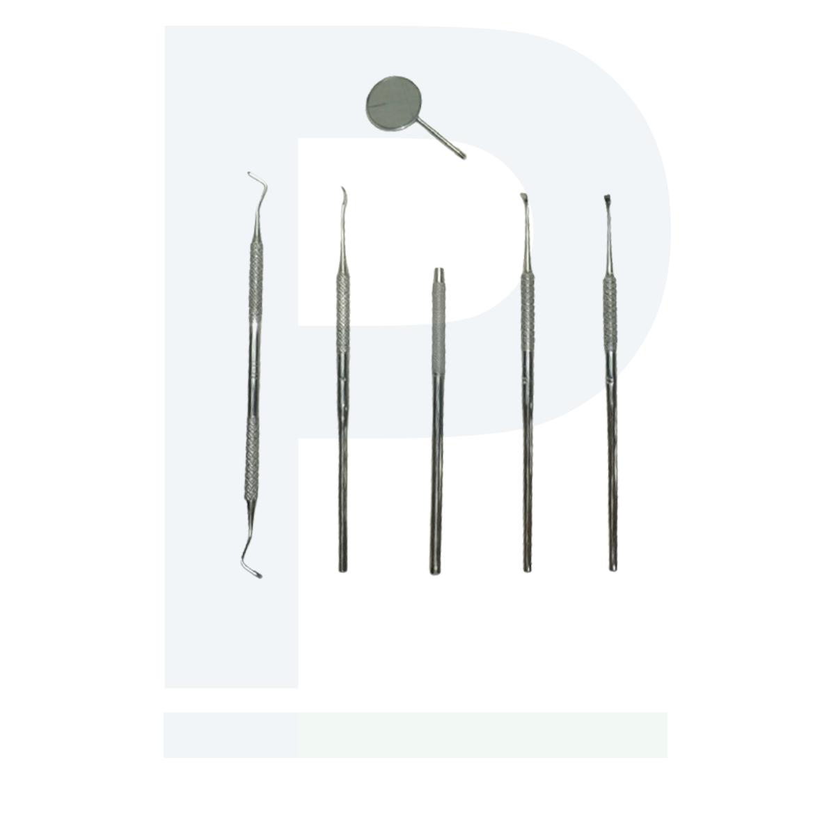 Kit Odontológico 6 Peças - Extração de tártaro
