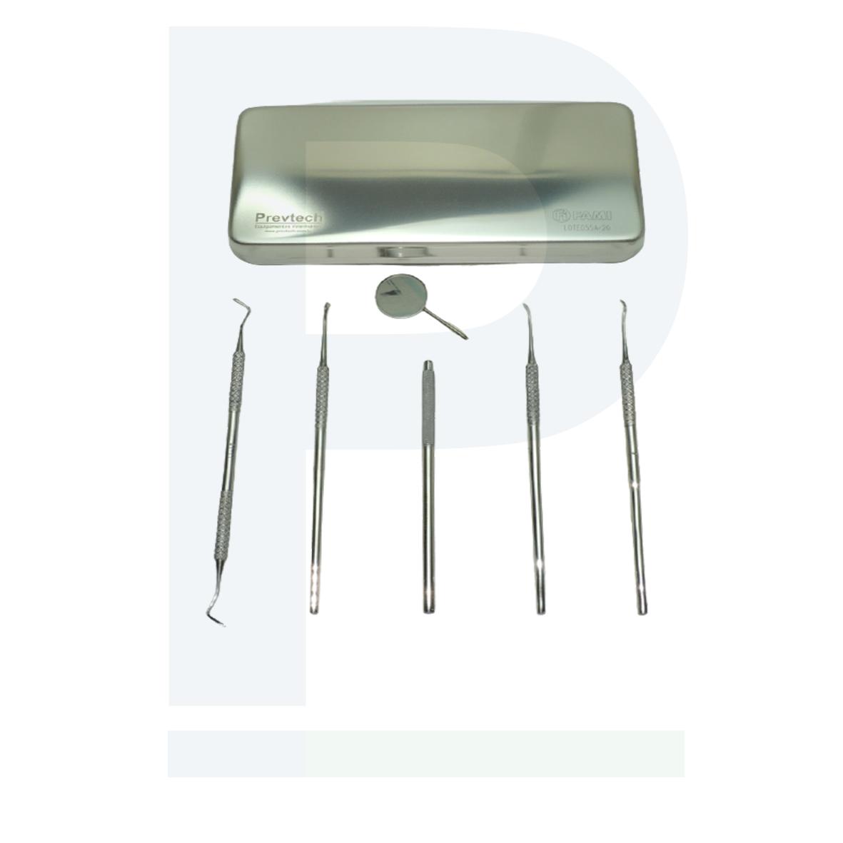Kit Odontológico 7 Peças - Extração de tártaro