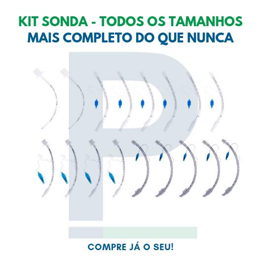 Kit Sonda Endotraqueal Veterinário - 17 unidades