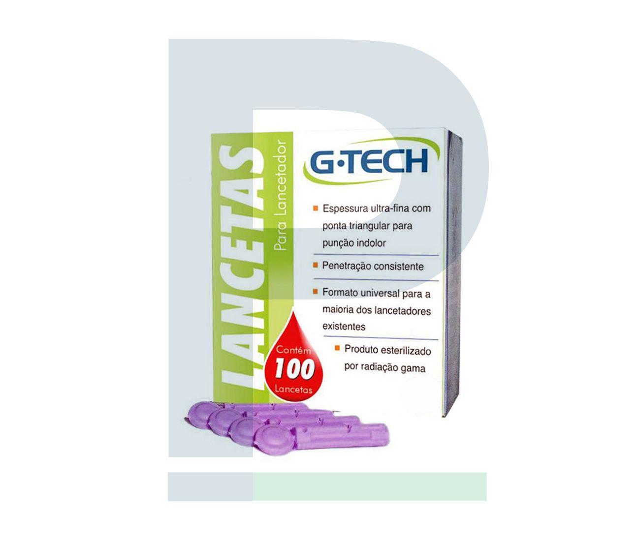 Lancetas Descartáveis - 100 Unidades
