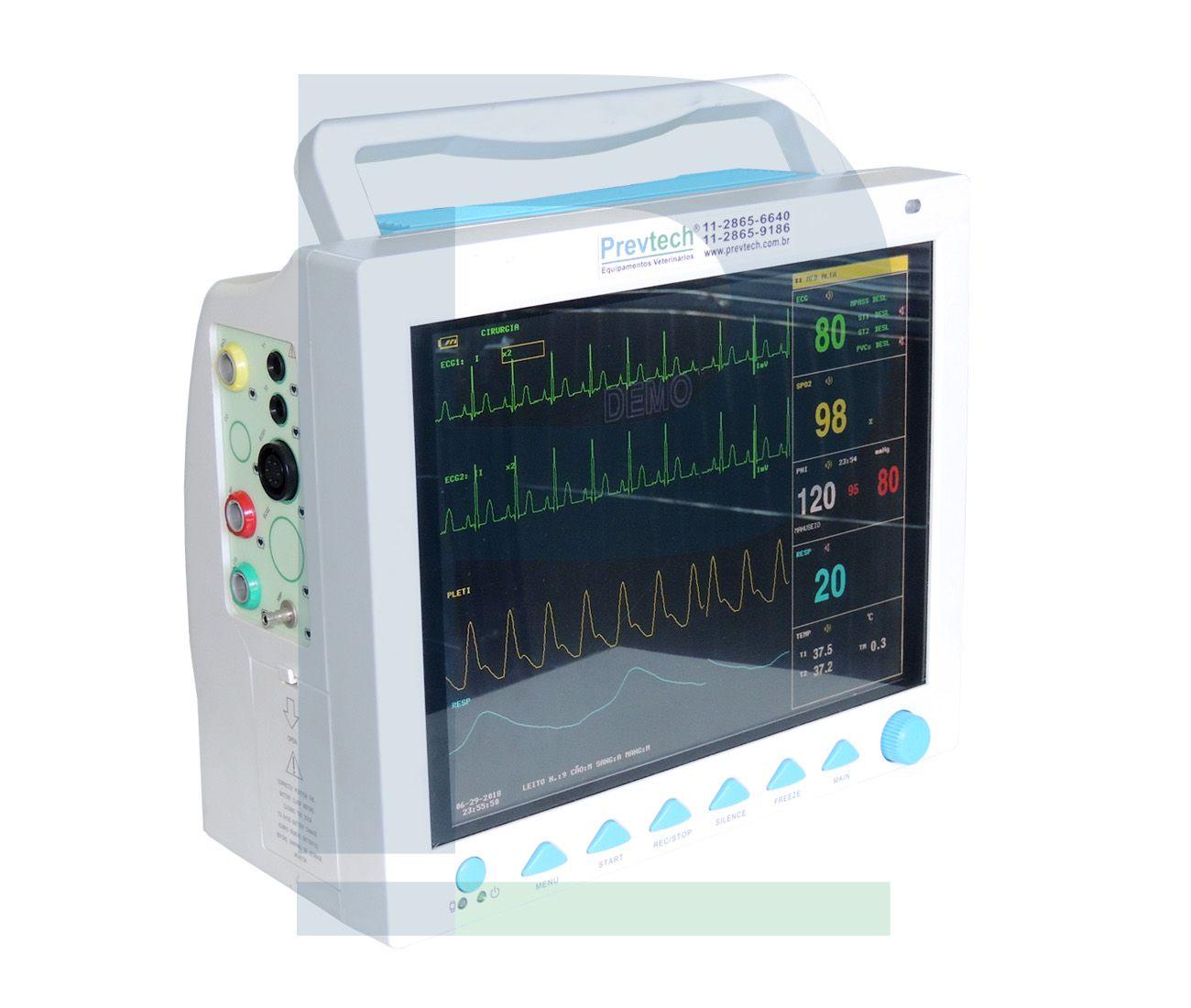 B - Monitor Veterinário Multiparamétrico AB 1000 - 12 polegadas
