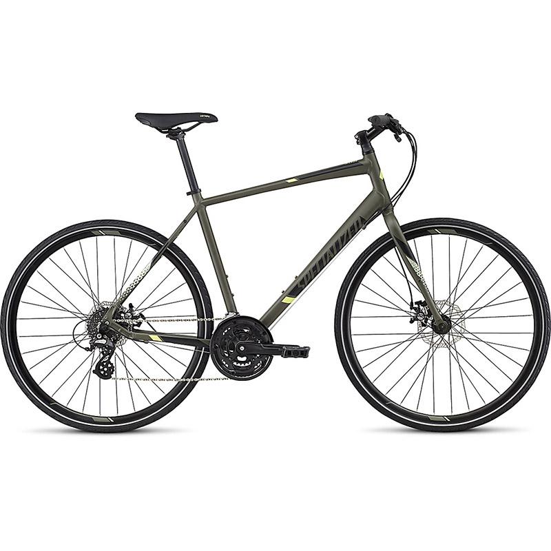 Bicicleta Specialized Sirrus Disc Verde Escuro/Preto 2017