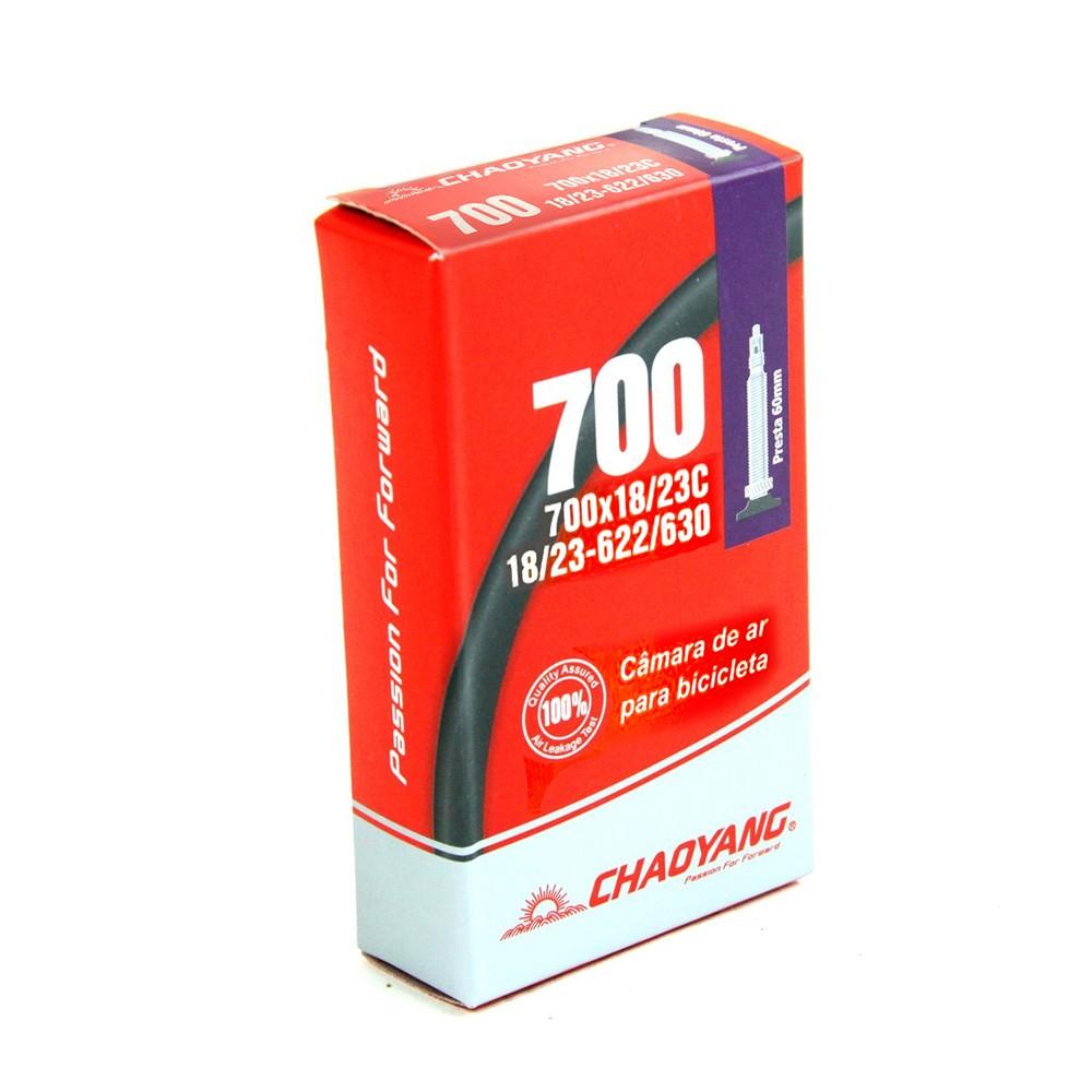 Camara de Ar Chaoyang 700X18/23 Válvula Presta 48MM
