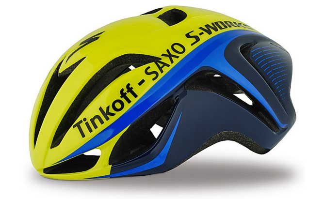Capacete Specialized S-Works Evade Tinkoff tamanho G