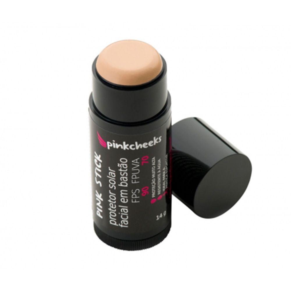 Protetor Solar Pinkcheeks Facial Pink Stick em Bastão