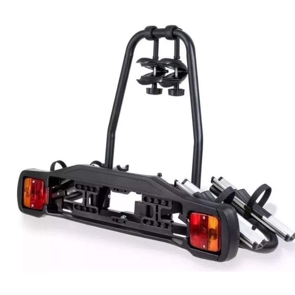 Suporte de Bicicleta Bike In Car Rack p/2Bikes p/Engate c/Sinalizador