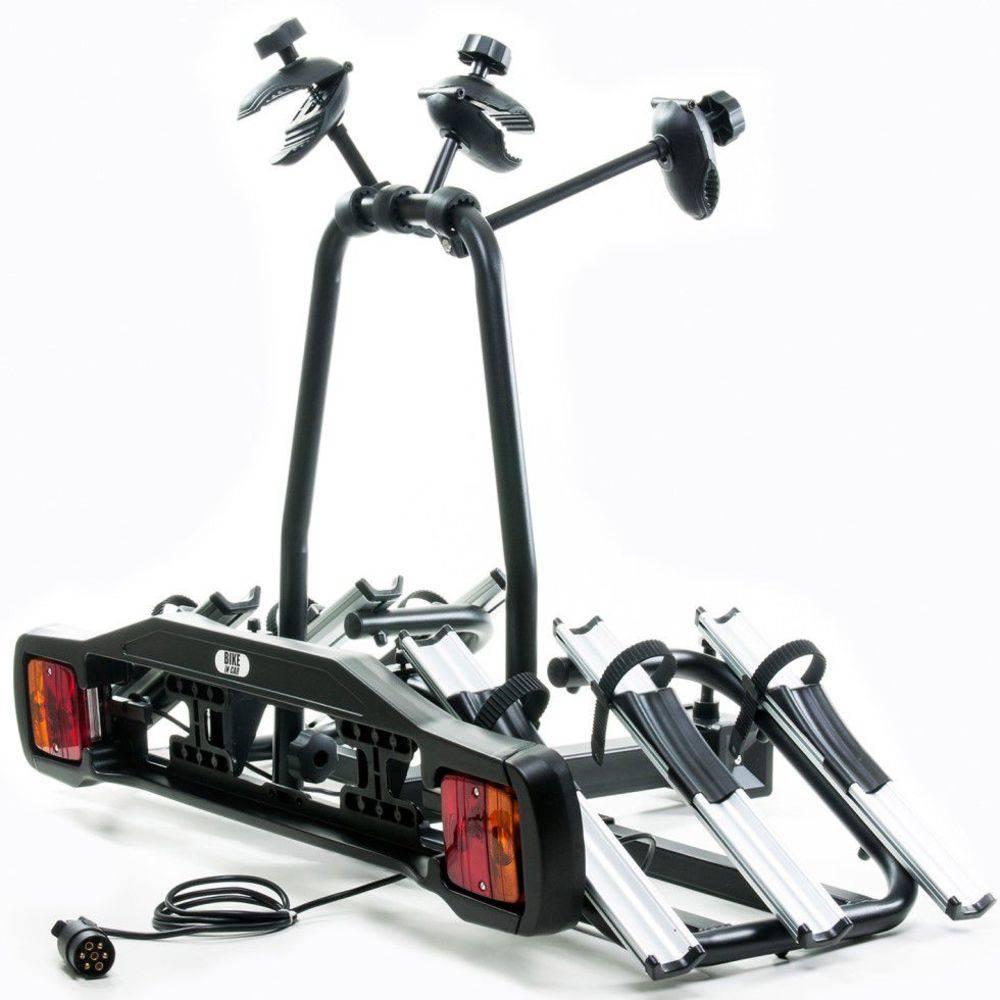 Suporte de Bicicleta Bike In Car Rack p/3Bikes p/Engate c/Sinalizador