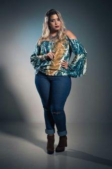 Blusa Cigana Plus Size Modelo Bata Estampada
