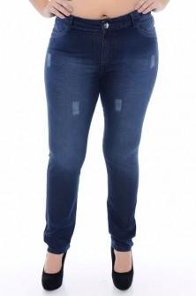 Calças Jeans Plus Size Feminina Cintura Alta Vários Modelos
