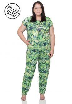 Macacão Pantalona Plus Size