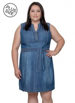 Vestido Jeans Verão Plus Size