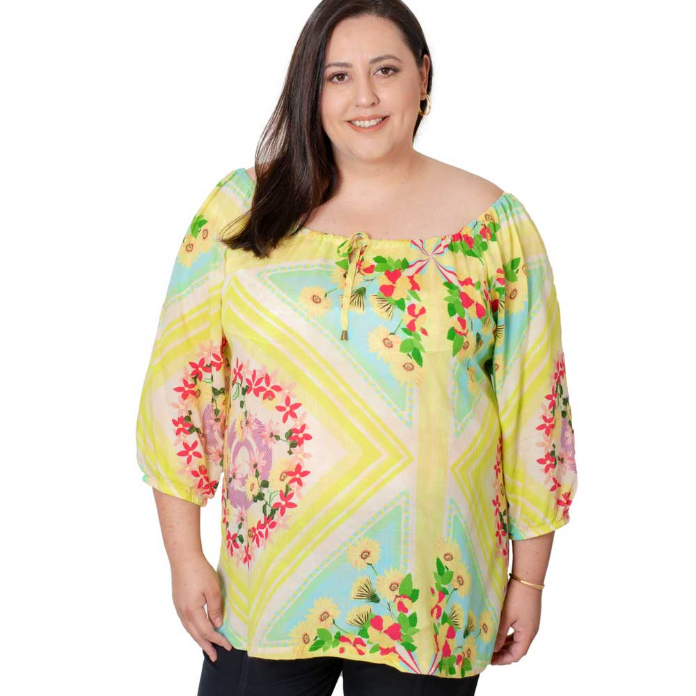 Bata Plus Size Estampada
