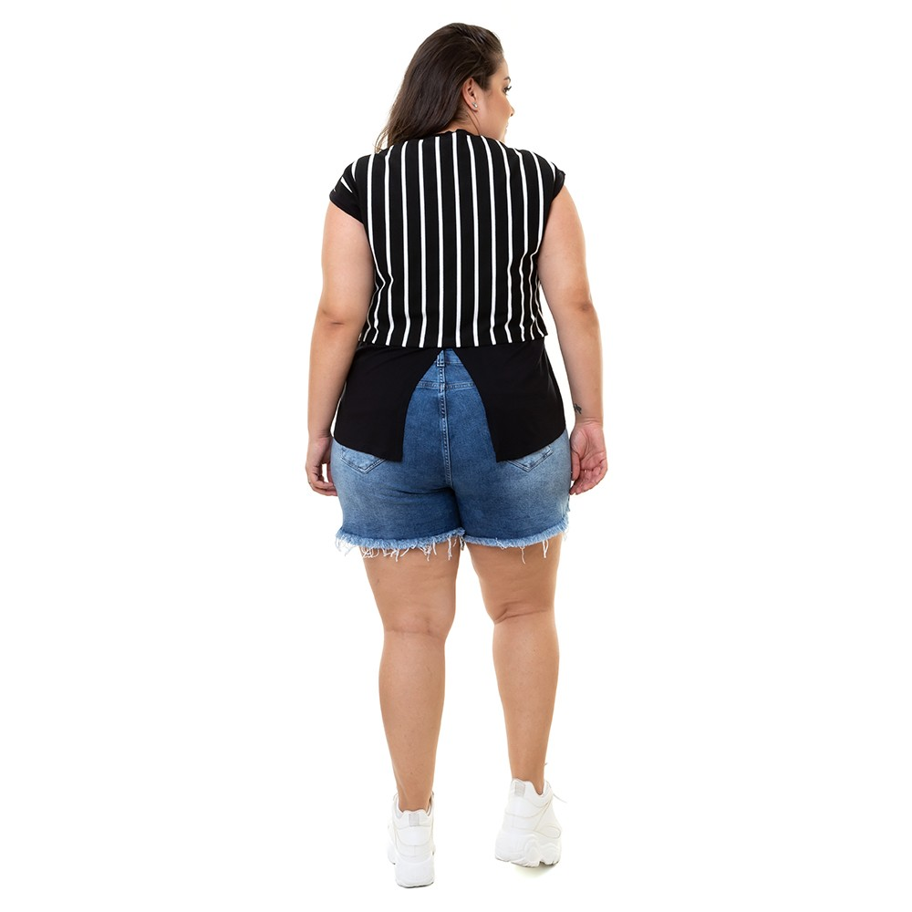 Blusa Plus Size Muscle Tee Feminina