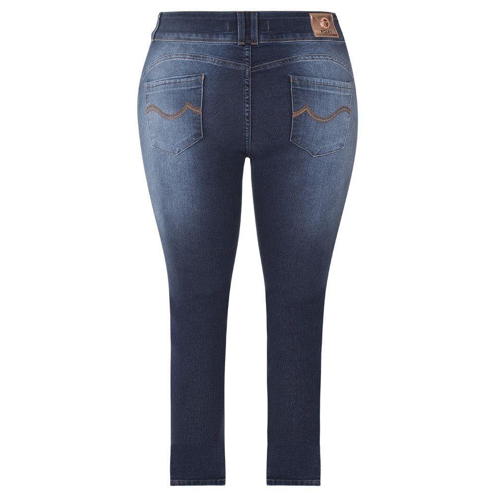 Calça Folky Jeans Plus Size Cigarrete