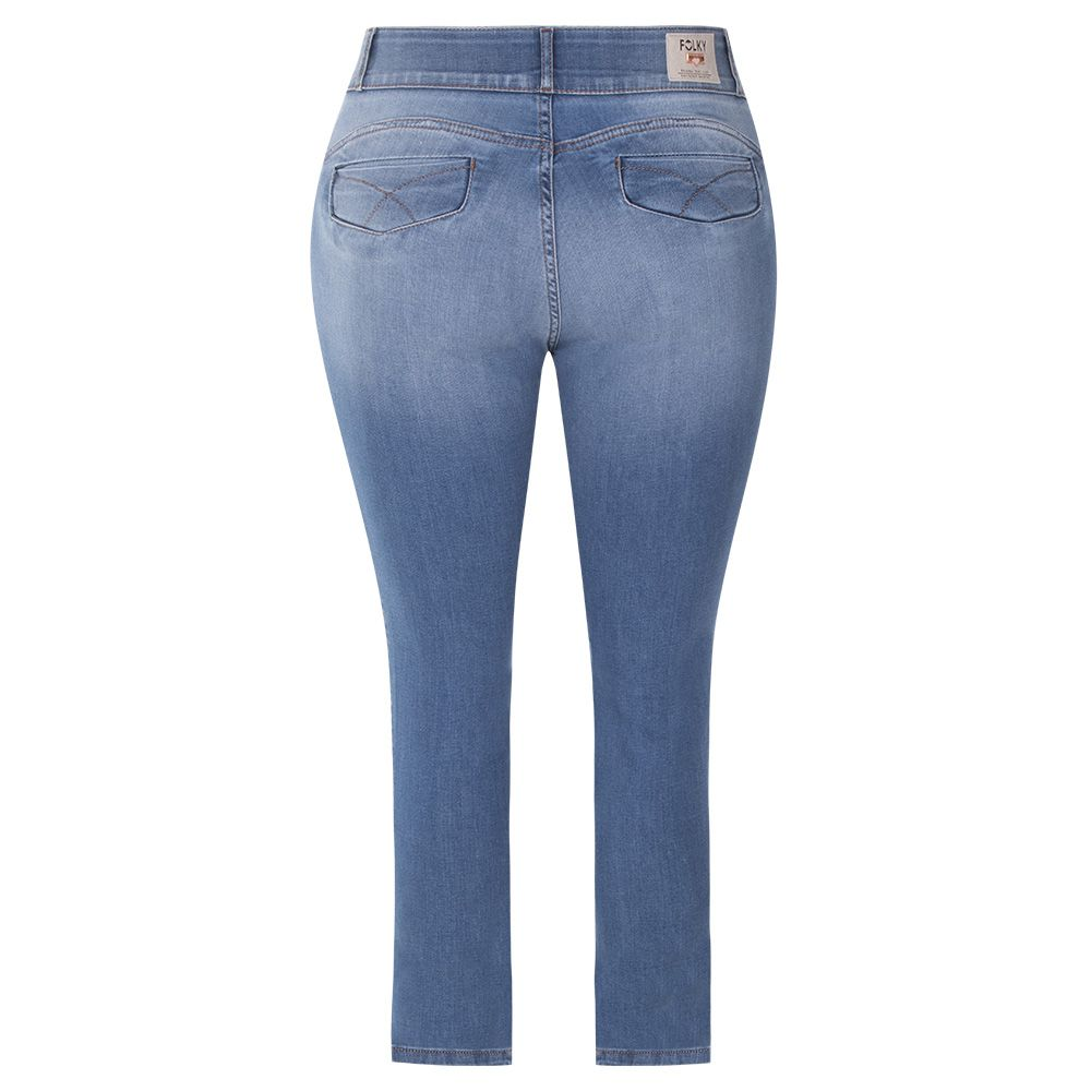 Calça Folky Jeans Plus Size Destroyed