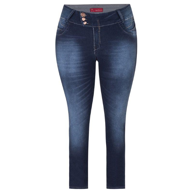 Calça Jeans Cintura Alta Plus Size