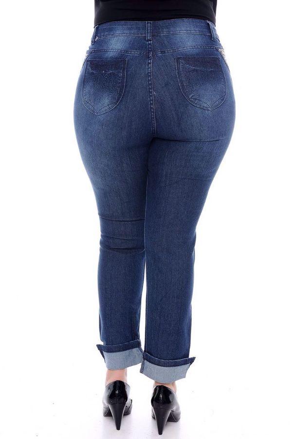 Calca Jeans Feminina Plus Size Skinny