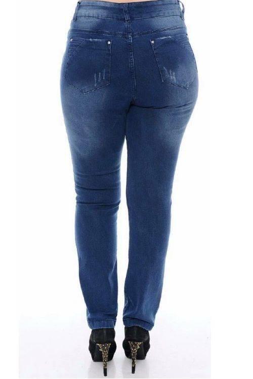 Calca Jeans Plus Size Feminina Reta
