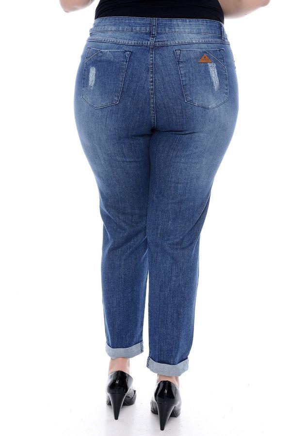 Calça Plus Size Jeans Feminina