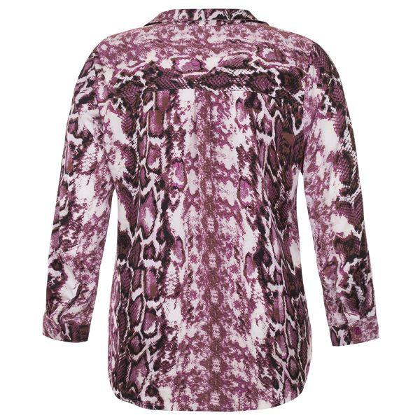 Camisa Animal Print Plus Size Manga Longa