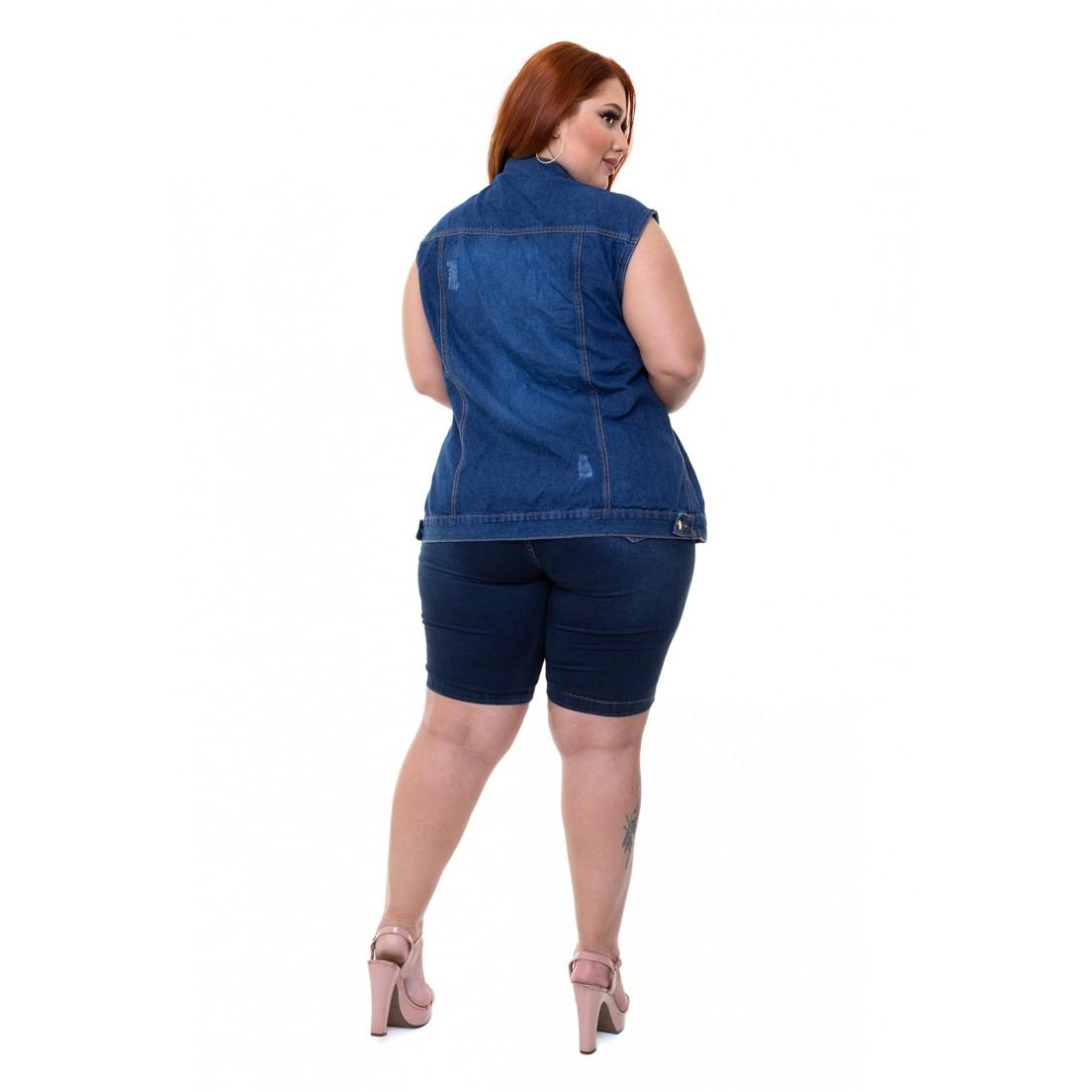 Coletes Curtos Feminino Jeans