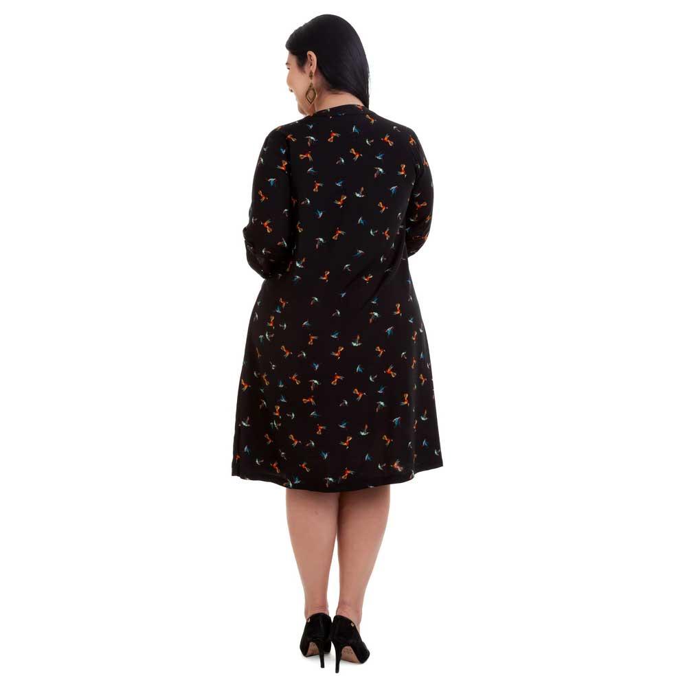 Vestido Curto Plus Size Preto Alika