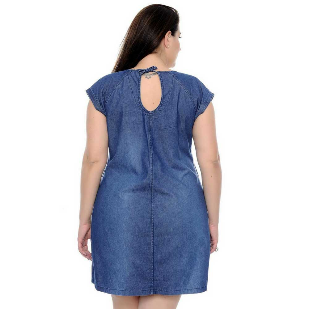 Vestido Jeans Colins Plus Size