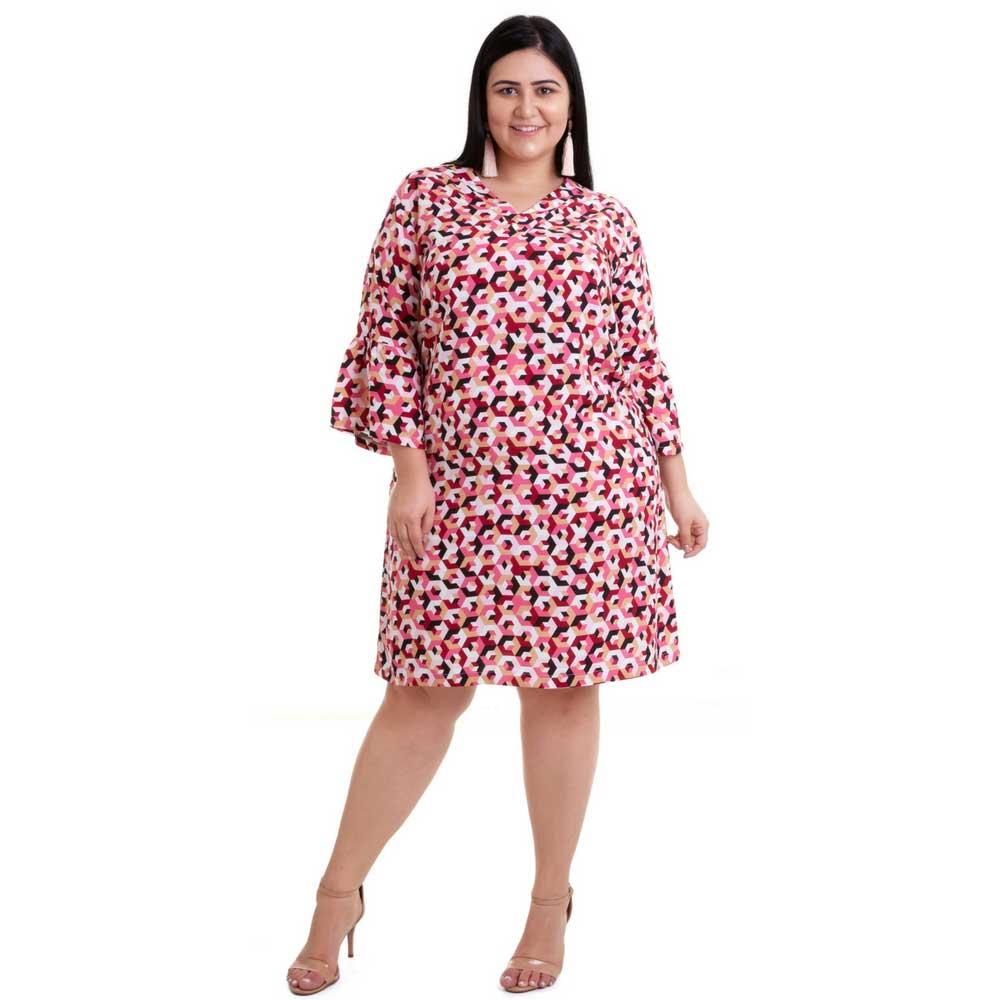 Vestido Plus Size Geometrico