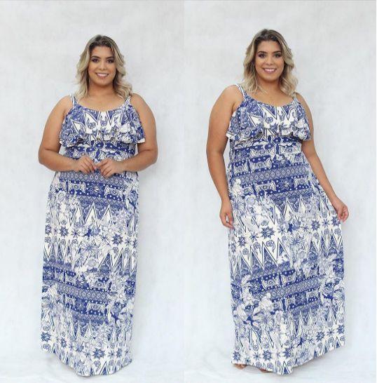 Vestido Plus Size Longo Bella
