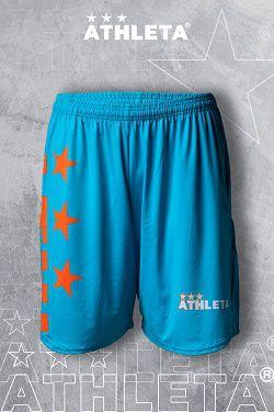 Bermudinha Linha Athleta Free 20 - Azul com Laranja