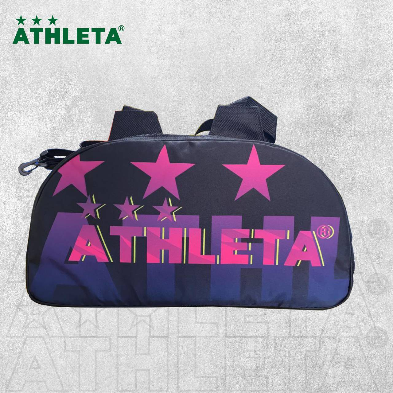 Bolsa Athleta 2021 - Preto com Rosa